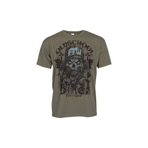 Louis Oldschool Biker T-Shirt grün XL