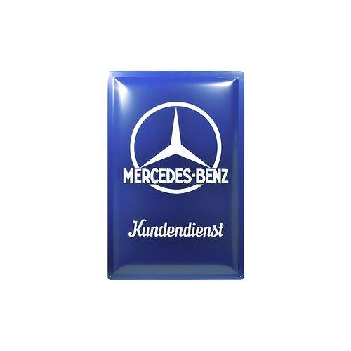 ZZZ-kein Hersteller Retro Blechschild Mercedes-Benz Kundendienst Maße: 40x60cm