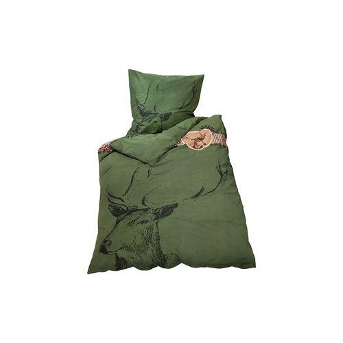 Bettwäsche mit Hirschwappen