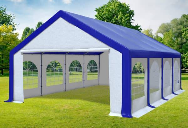 Stabilezelte Partyzelt Festzelt 5x8m Modular Pro PVC wasserdicht blau /weiß