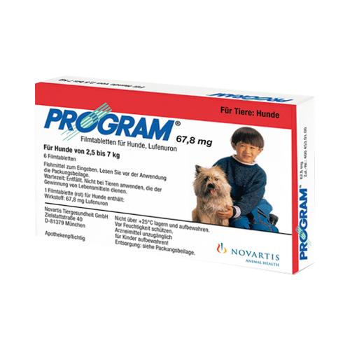 PROGRAM 67,8 mg 2,5-7 kg Tabl.f.Hunde 6 St