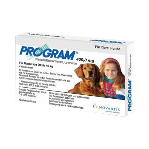 PROGRAM 409,8 mg 20-40 kg Tabl.f.Hunde 6 St