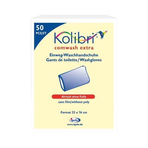 KOLIBRI comwash extra Waschhandschuh unfol.16x24cm 20X50 St