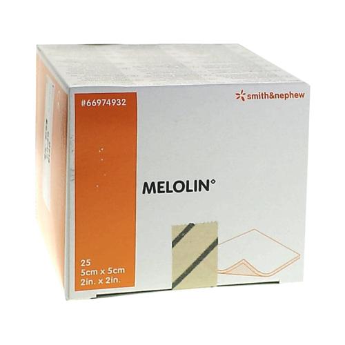 MELOLIN 5x5 cm Wundauflagen steril 25 St