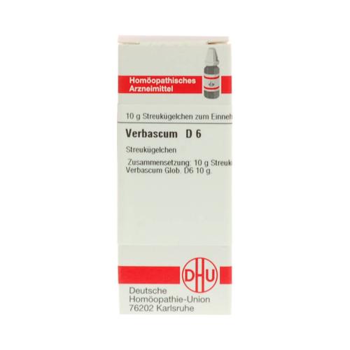 VERBASCUM D 6 Globuli 10 g