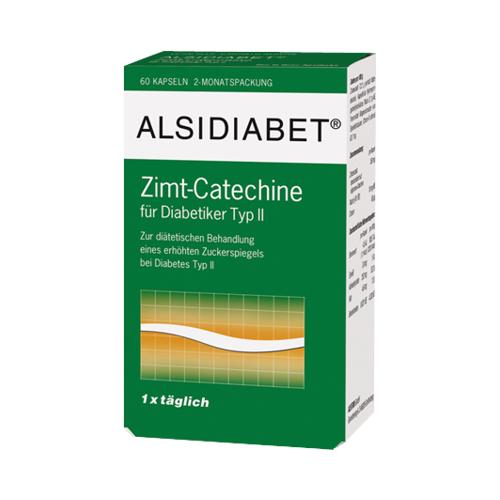 ALSIDIABET Zimt Catechine f.Diab.Typ II Kapseln 60 St
