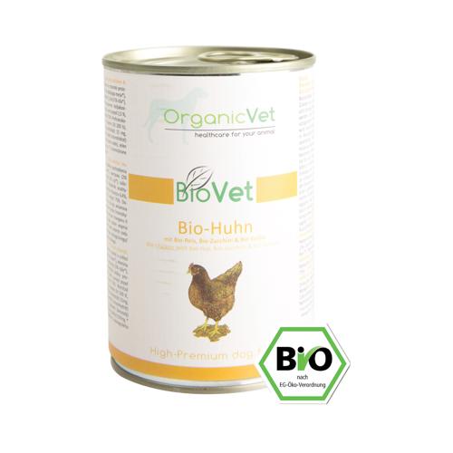 ORGANICVET BioVet mit Huhn für Hunde 400 g