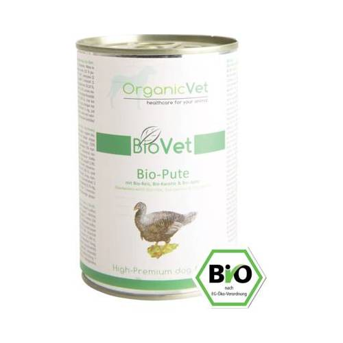 ORGANICVET BioVet mit Pute für Hunde 400 g