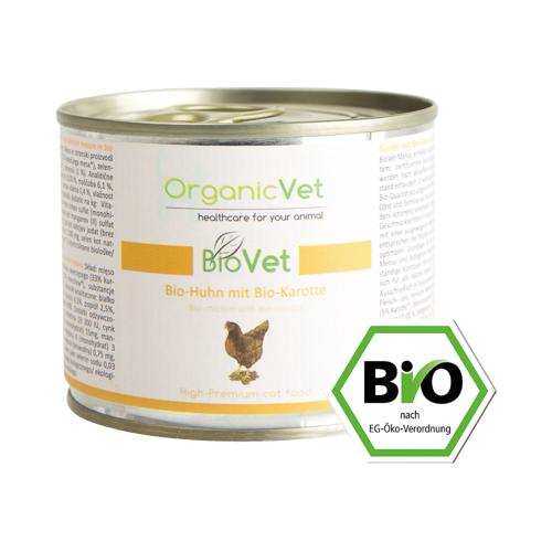 ORGANICVET BioVet mit Huhn für Katzen 200 g