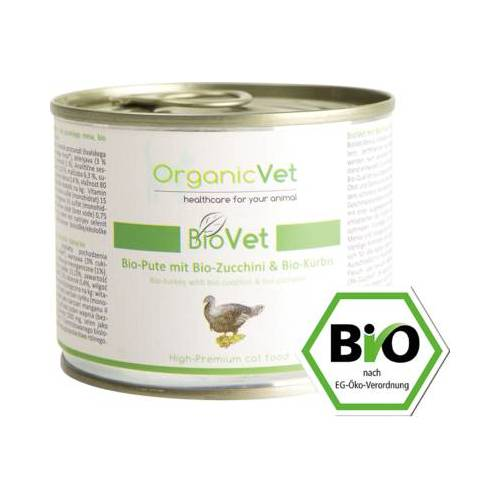 ORGANICVET BioVet mit Pute für Katzen 200 g