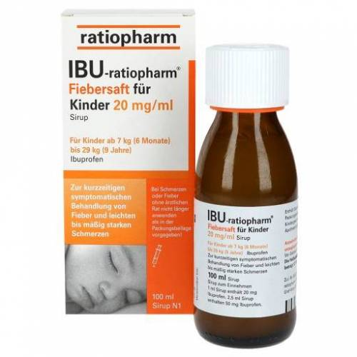 IBU-RATIOPHARM Fiebersaft für Kinder 20 mg/ml 100 ml
