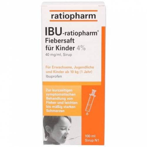 IBU-RATIOPHARM Fiebersaft für Kinder 40 mg/ml 100 ml
