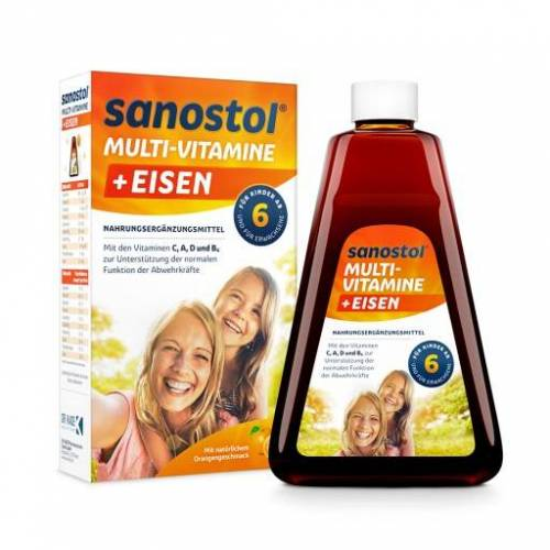 SANOSTOL plus Eisen Saft 460 ml