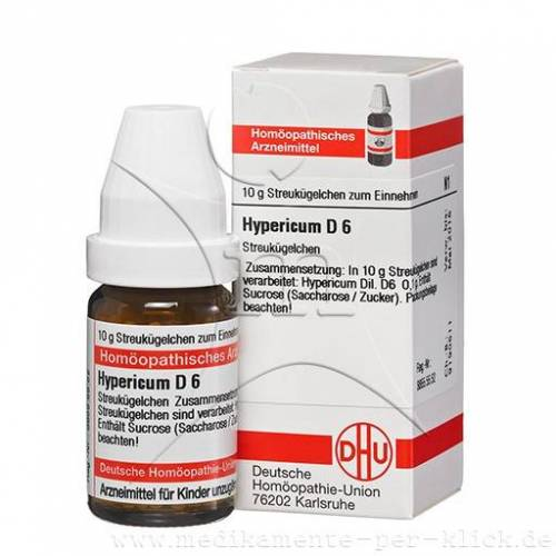 HYPERICUM D 6 Globuli 10 g