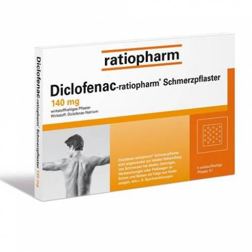 DICLOFENAC-ratiopharm Schmerzpflaster 5 St