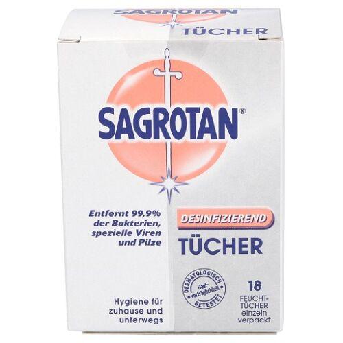 SAGROTAN Desinfektionstücher 18 St