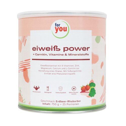 FOR YOU eiweiß power Erdbeere 750 g