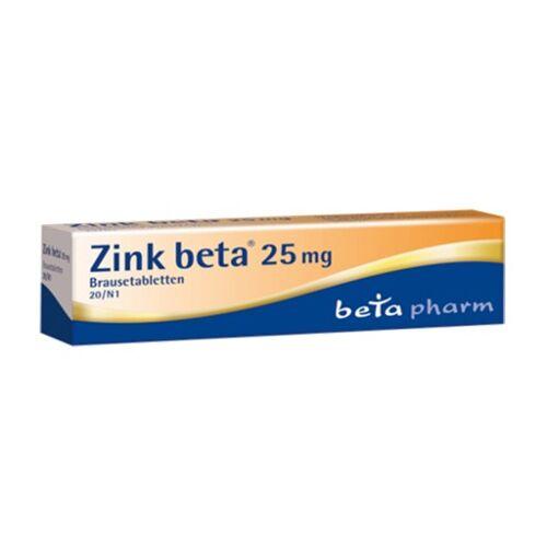 ZINK BETA 25 Brausetabletten 20 St