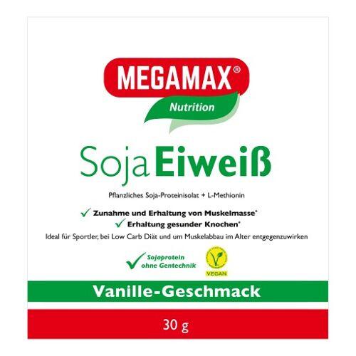 MEGAMAX Soja Eiweiß Vanille Pulver 30 g