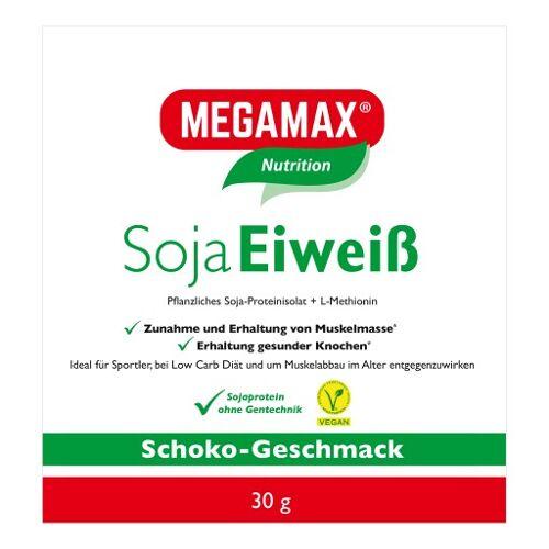 MEGAMAX Soja Eiweiß Schoko Pulver 30 g