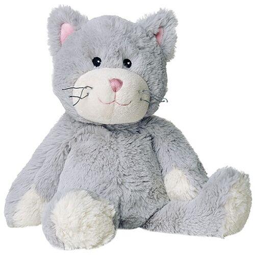 WÄRME STOFFTIER Katze grau 1 St