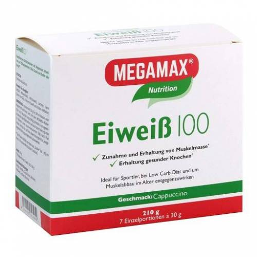 EIWEISS 100 Cappuccino Megamax Pulver 7X30 g