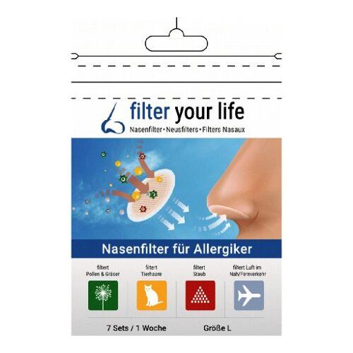 FILTER YOUR LIFE Nasenfilter f.Allergiker Gr.L 7X2 St