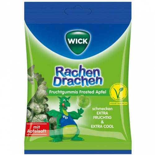 WICK RachenDrachen Halsgummis Apfel 75 g