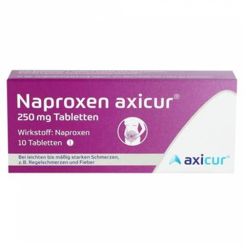 NAPROXEN axicur 250 mg Tabletten 10 St