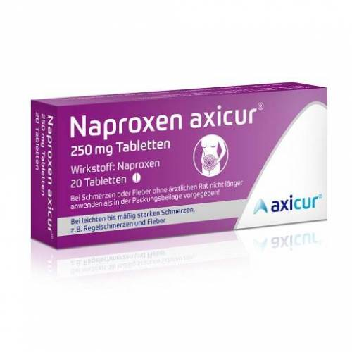 NAPROXEN axicur 250 mg Tabletten 20 St