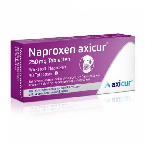 NAPROXEN axicur 250 mg Tabletten 30 St
