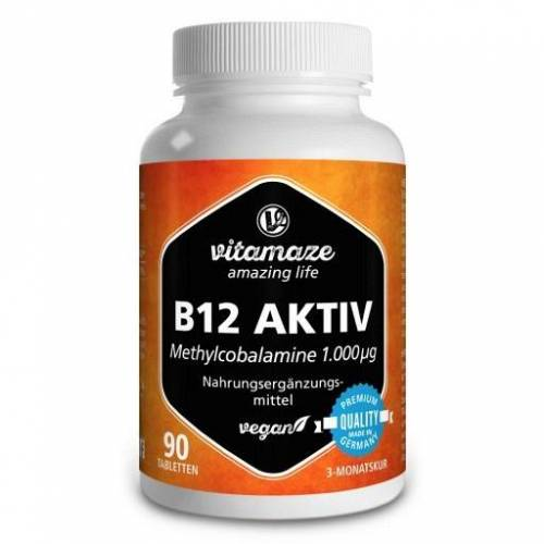 B12 AKTIV 1.000 µg vegan Tabletten 90 St