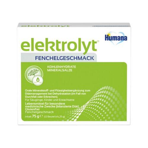 HUMANA Elektrolyt Fenchel Pulver Faltschachtel 75 g