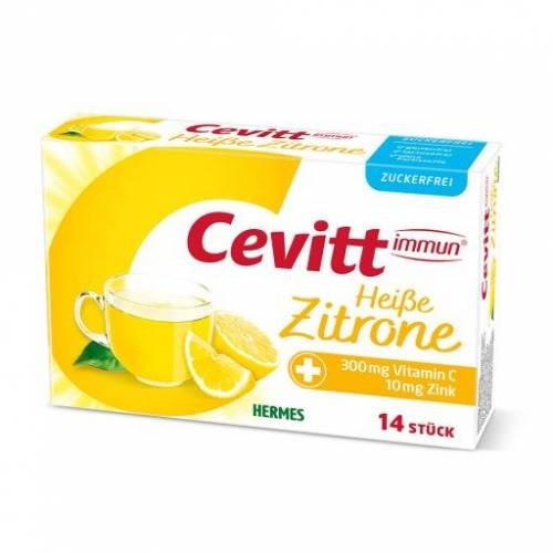 CEVITT immun heiße Zitrone zuckerfrei Granulat 14 St
