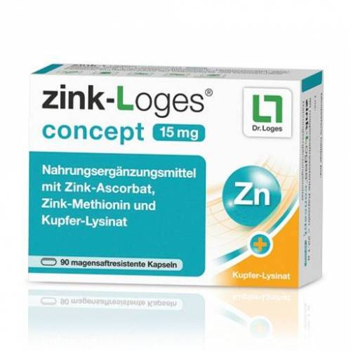 ZINK-LOGES concept 15 mg magensaftres.Kapseln 90 St