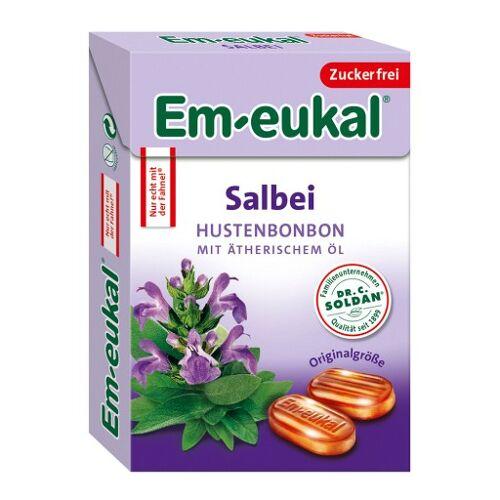 EM EUKAL Bonbons Salbei zuckerfrei Box 50 g