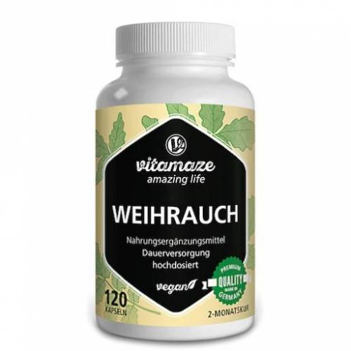 WEIHRAUCH 900 mg hochdosiert vegan Kapseln 120 St