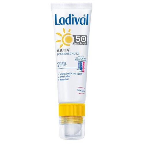 LADIVAL Aktiv Sonnenschutz Gesicht&Lippen LSF 50+ 1 P