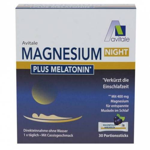 MAGNESIUM NIGHT plus 1 mg Melatonin Pulver 30 St