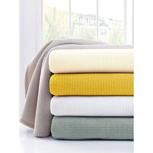 Dormisette Pique-Decke ca. 150x210cm Dormisette gelb