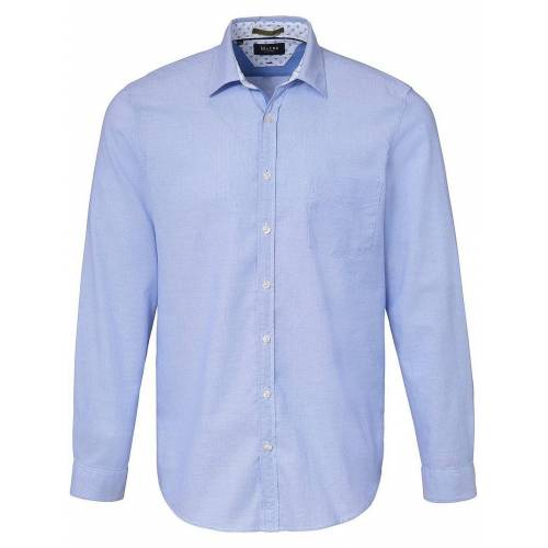 MAERZ Muenchen Hemd Kent-Kragen MAERZ Muenchen blau