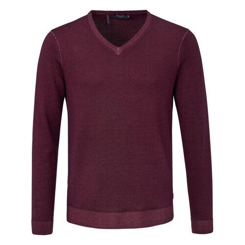 MAERZ Muenchen V-Pullover aus 100% Schurwolle-Merino fein MAERZ Muenchen rot