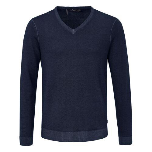 MAERZ Muenchen V-Pullover aus 100% Schurwolle-Merino fein MAERZ Muenchen blau