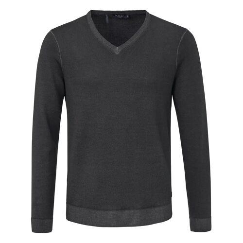 MAERZ Muenchen V-Pullover aus 100% Schurwolle-Merino fein MAERZ Muenchen grün