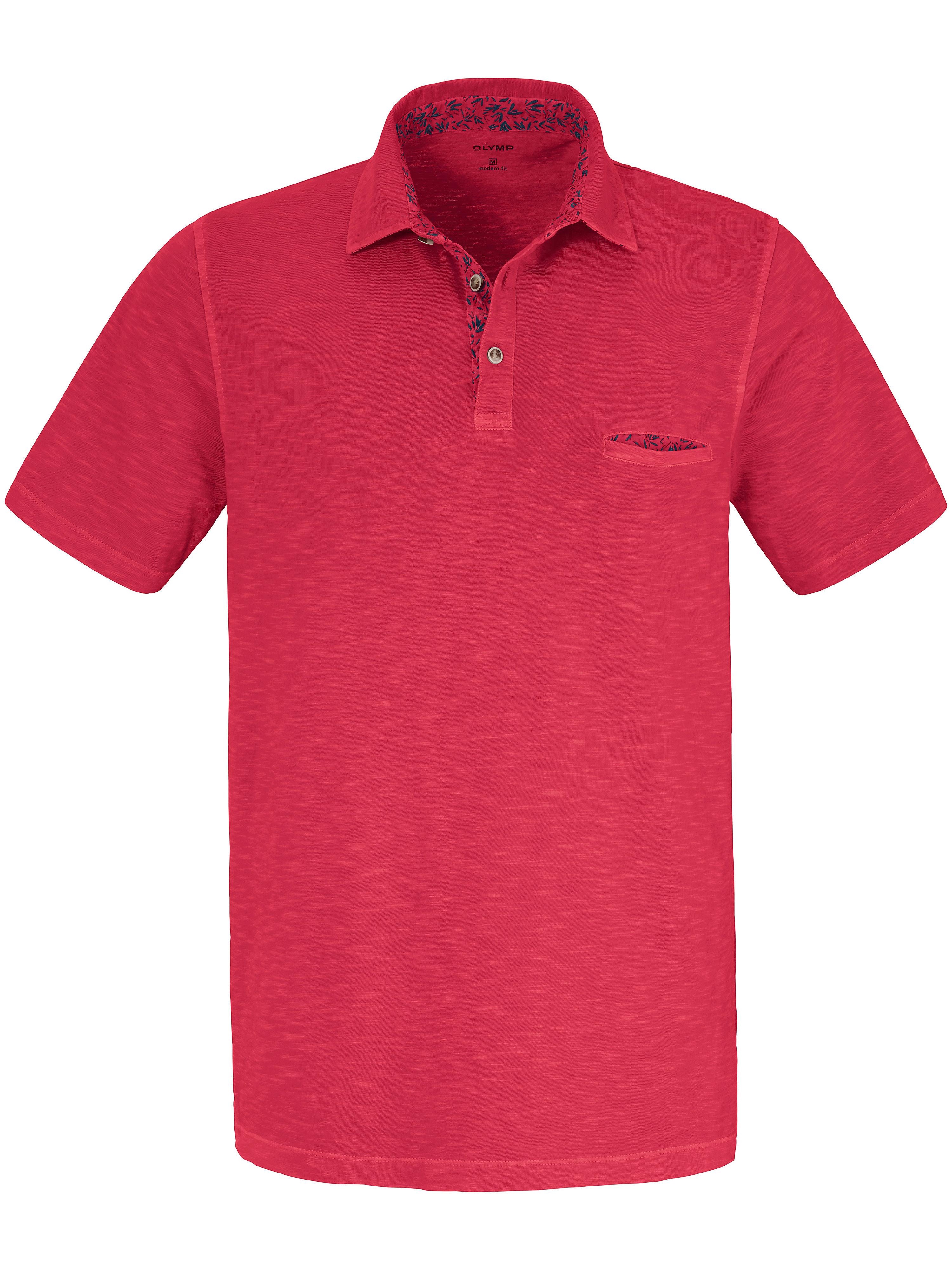 Olymp Polo-Shirt im aktuellen Washer Look Olymp rot