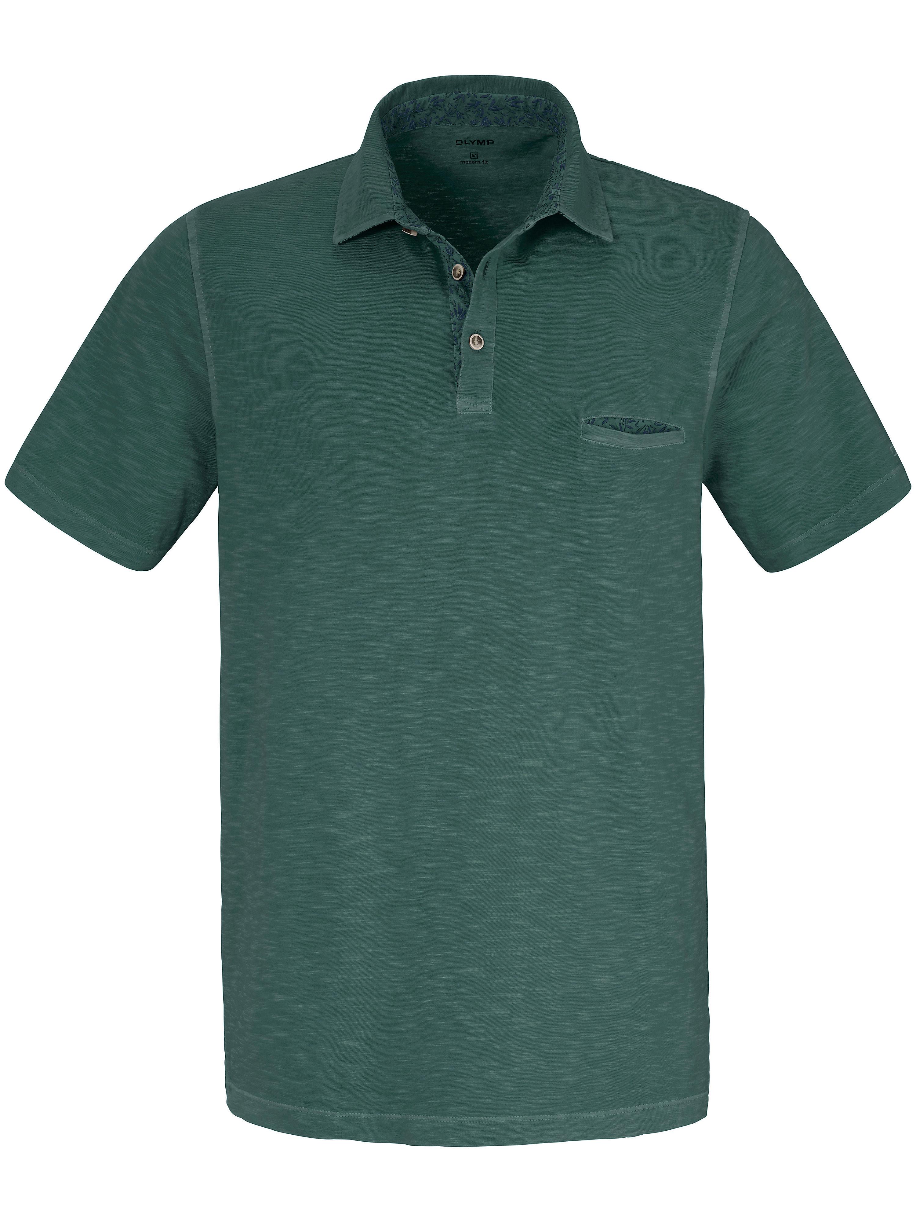Olymp Polo-Shirt im aktuellen Washer Look Olymp grün