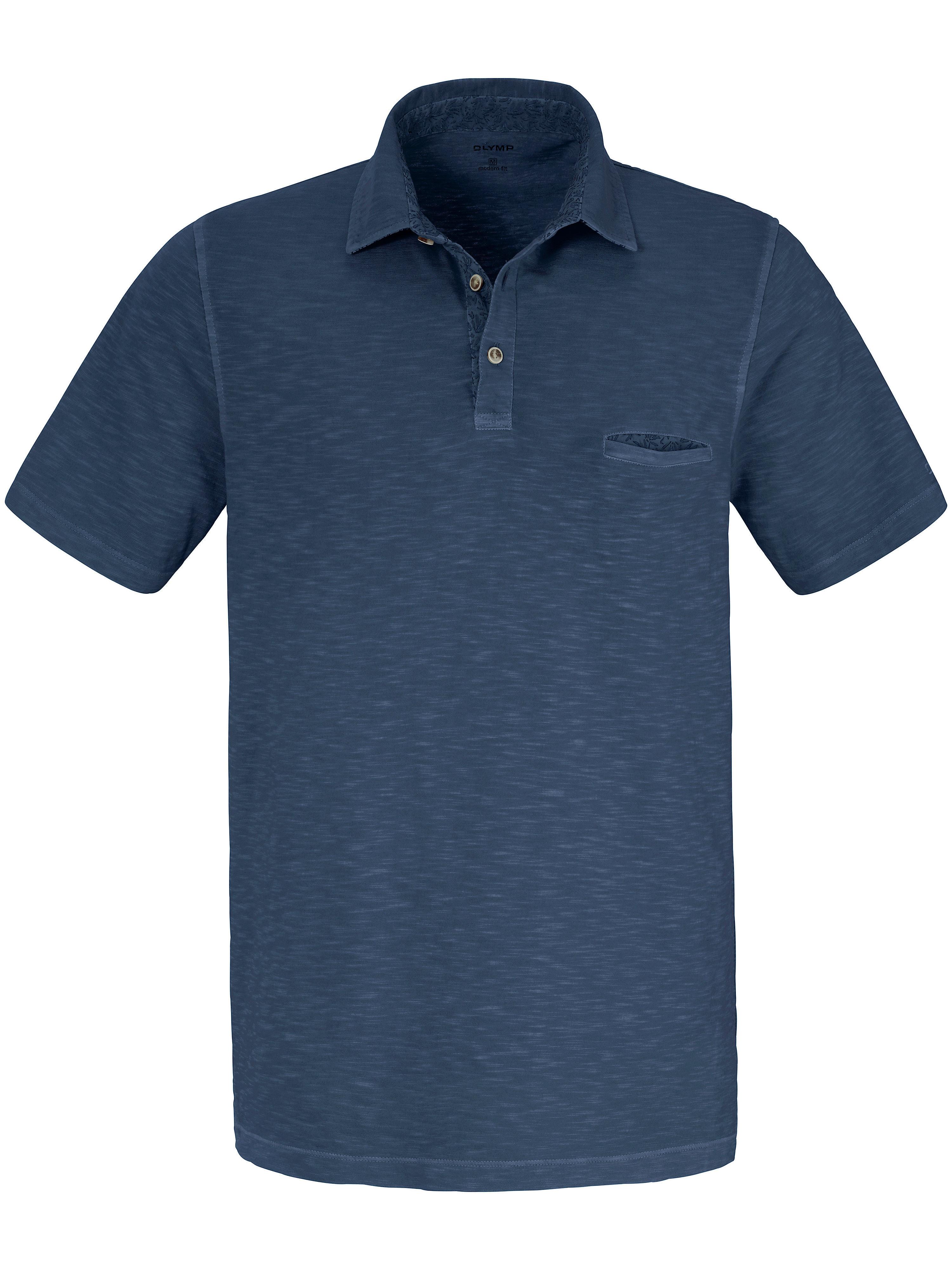 Olymp Polo-Shirt im aktuellen Washer Look Olymp blau