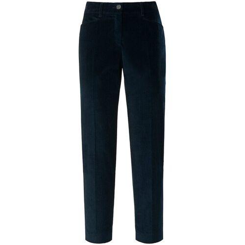 Brax Slim Fit-7/8-Breitcord-Hose Brax Feel Good blau