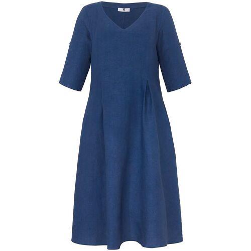 Anna Aura Kleid 3/4-Arm aus 100% Leinen Anna Aura blau