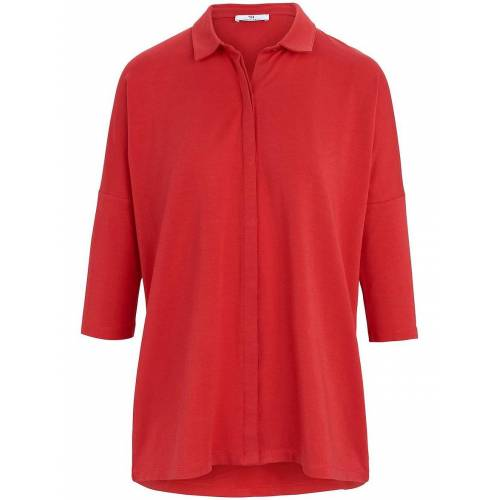 Peter Hahn Jersey-Bluse 3/4-Arm Peter Hahn rot